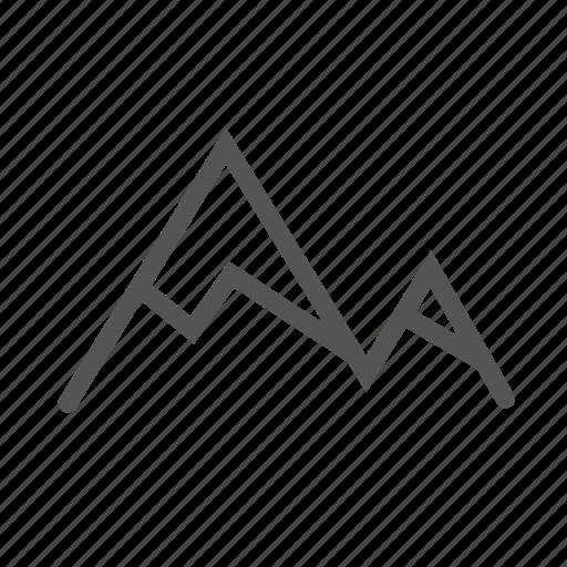 hiking, mountain, mountains, peak, peaks, top, trip icon