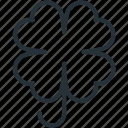 clover, holidays icon