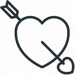cupid, heart, holidays icon