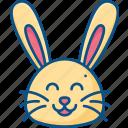 animal, bunny, bunny icon, cute, garden, pet, rabbit, spring icon