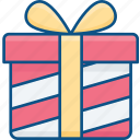 birthday, bow, gift icon, present, ribbon, surprise, travelculture icon