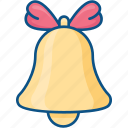 alert, bell, christmas, notification, ring icon icon