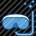 breathing tube, dive, glasses, mask, scuba, swim, swiming glasses icon icon