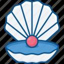 bandits, gem, pearl, pirate, sea, shell, treasury icon icon