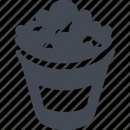 film, food, hollywood, popcorn icon