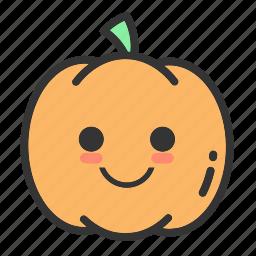 emoji, face, fruit, holloween, pumpkin, pumpkins icon