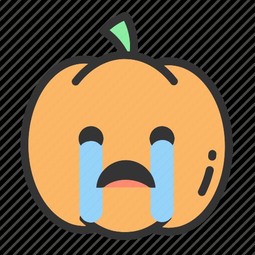 Emoji, face, fruit, holloween, pumpkin, pumpkins icon - Download on Iconfinder
