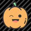 face, fruit, pumpkins, holloween, pumpkin, emoji
