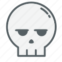 bones, dead, emoji, face, holloween, skull, skulls icon