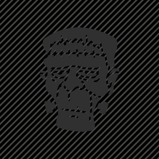 frankenstein, halloween, living dead, monster icon