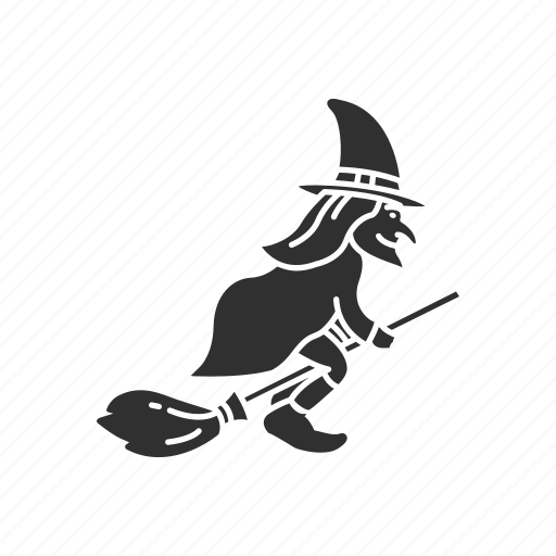 broom stick, halloween, magician, witch, witch's broom icon