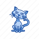 bad luck, black cat, cat, halloween icon