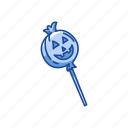 candy, halloween, lollipop, pumpkin lollipop, trick or treat icon