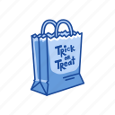 bag, halloween, paper bag, trick or treat, trick or treat bag icon
