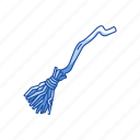 broom, broom stick, halloween, witch icon