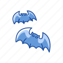 bats, flying bat, halloween, spooky icon