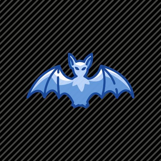 bat, flying bat, halloween, spooky icon