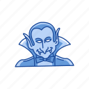 count dracula, dracula, halloween, monster, vampire icon