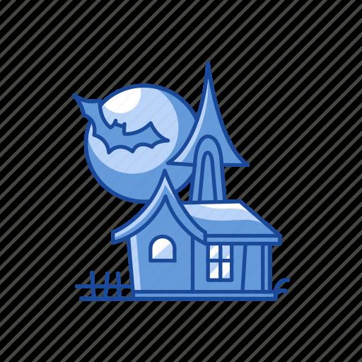 halloween, haunted, haunted house, house icon