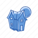 halloween, haunted, haunted house, house, mansion icon