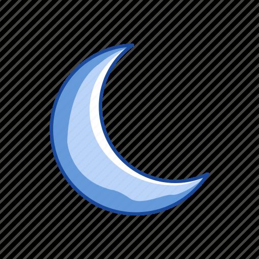 crescent moon, halloween, moon, night icon