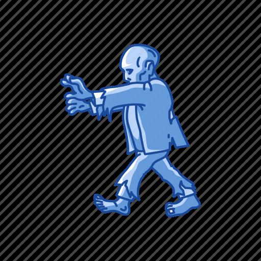 dead man, halloween, monster, walking dead, zombie icon