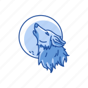 full moon, halloween, midnight, werewolf, wolf icon