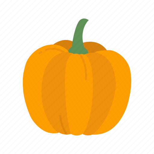 halloween, orange pumpkin, pumpkin, vegetable icon