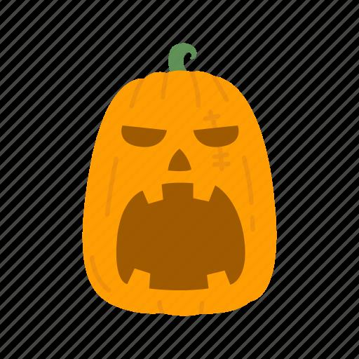 angry pumpkin, halloween, jack o' lantern, pumpkin icon