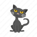 animal, bad luck, black cat, cat, halloween icon