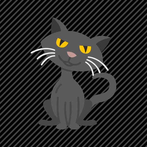 animal, bad luck, black cat, cat, halloween icon