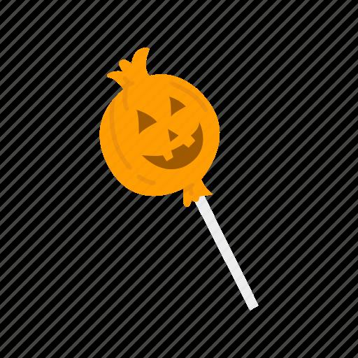 candy, halloween, pumpkin, pumpkin sucker, sucker icon