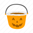 halloween, halloween basket, pumpkin basket, trick or treat icon