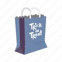 bag, halloween, halloween bag, paper bag, trick or treat icon