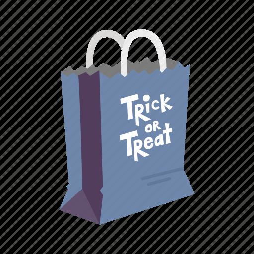 bag, halloween, halloween bag, paper bag, trick or treat icon
