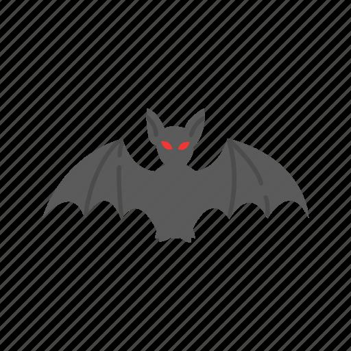 bat, flying bat, halloween, monster icon