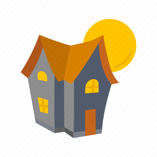 halloween, haunted, haunted house, house, moon icon