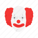 clown, creepy, evil clown, halloween icon