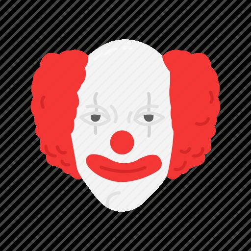 clown, creepy, evil clown, halloween icon