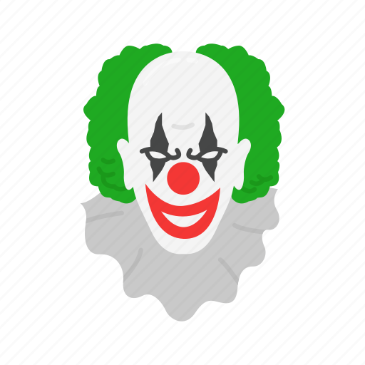clown, creepy, evil clown, halloween, joker icon