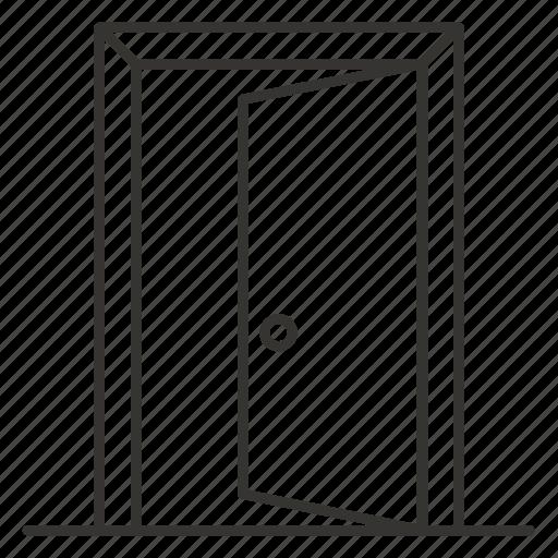 door, doorway, exit, open, out, quit, sign icon