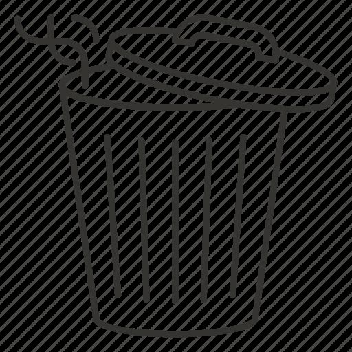 delete, garbage, recycle bin, remove, tank, trash icon