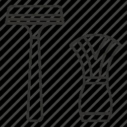 blade, razor, shaving, trimmer icon