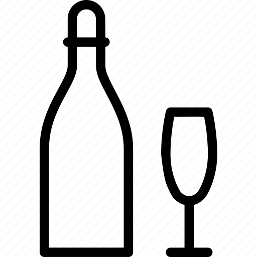 beverage, bottle, celebration, champagne, drink, glass icon