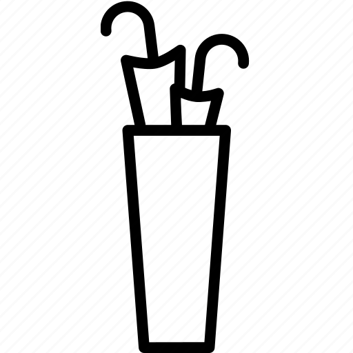 accessory, furniture, rack, stand, umbrella icon