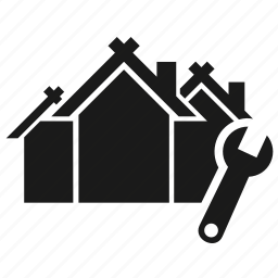 building, house, tool icon