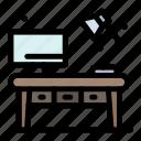 desk, home, living, office