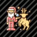 christmas decor, santa claus, december 25th, xmas celebration icon