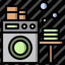 electronics, laundry, machine, technology, washer, washing icon