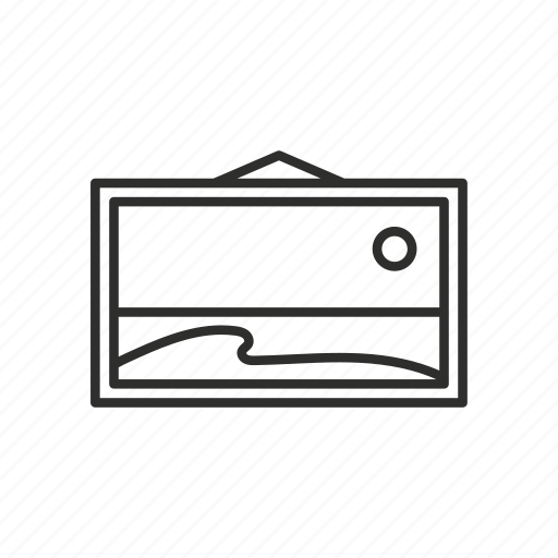 appliance, decorative, home, outline, painting icon